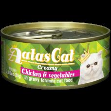 Aatas Cat Creamy Chicken & Vegetables 80g-10ctns