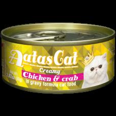Aatas Cat Creamy Chicken & Crab 80g-10ctns