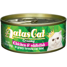 Aatas Cat Creamy Chicken & Whitefish 80g-10ctns