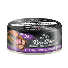 Absolute Holistic Raw Stew Duck Organs Wild Tuna & Mountain Lobster Recipe 80g (24can )