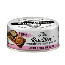 Absolute Holistic Raw Stew Chicken Organs Deboned Chicken & Quail Egg Recipe 80g ( 24can )