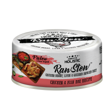 Absolute Holistic Raw Stew Chicken Organs Deboned Chicken & Fish Roe Recipe 80g ( 24 can )