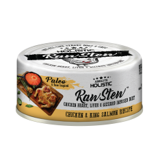 Absolute Holistic Raw Stew Chicken Organs Deboned Chicken & King Salmon Recipe 80g ( 24can )