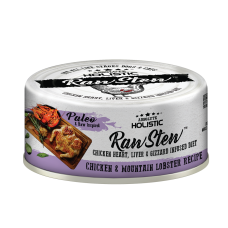 Absolute Holistic Raw Stew Chicken Organs Deboned Chicken & Mountain Lobster Recipe 80g (24can )