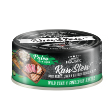 Absolute Holistic Raw Stew Duck Organs Wild Tuna & ShellFish Recipe 80g (24 Cans)