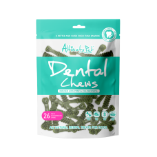 Altimate Pet Dental Chew Infused With Mint & Cholophyll Toothbrush 26pc