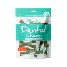 Altimate Pet Dental Chew Infused With Mint & Chlorophyll Toothbrush 9pc