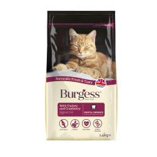 Burgess Mature Cat 7+ Years Old Turkey & Cranberry 1.4kg
