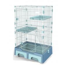 Deluxe Pet Cage Black Blue