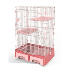 Deluxe Pet Cage Black Pink