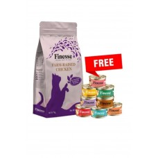 Finesse Farm-Raised Chicken Cat Dry Food 7kg  *FREE 1 ctn of Finesse wet food*