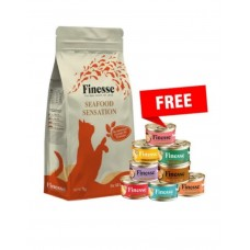 Finesse Seafood Sensation (Fish & Poultry) Cat Dry Food 7kg *FREE 1 ctn of Finesse wet food*