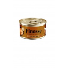 Finesse Grain-Free Tuna with Beef in Jelly 85g