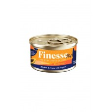 Finesse Plus Grain-Free Chicken and Tuna with Papaya (Hairball Control) 85g Carton (24 Cans)