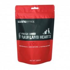 Freeze Dry Australia Freeze Dried Lamb Hearts Dogs & Cats Treats 100g