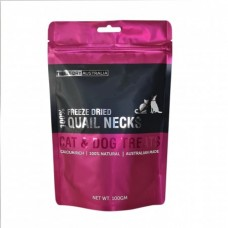 Freeze Dry Australia Freeze Dried Quail Neck Dogs & Cats Treats 100g