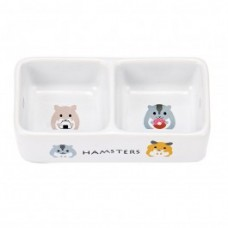Marukan Porcelain Double Dish for Hamster