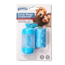 Pawise Poop Bag Dispenser Blue (20 Sheets)