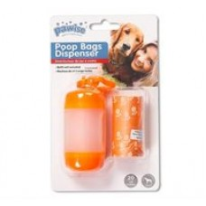 Pawise Poop Bag Dispenser Orange  (20 Sheets)