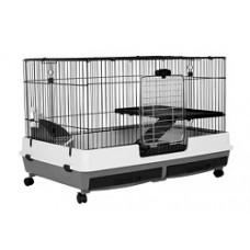 Riyoka Rabbit Cage Black Grey 100cm