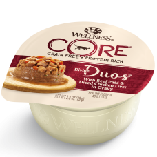 Wellness Cat Core Divine Duos Beef Pate & Diced Chicken Liver in Gravy 79g