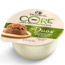 Wellness Cat Core Divine Duos Chicken Pate & Diced Turkey in Gravy 79g