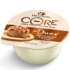 Wellness Cat Core Divine Duos Chicken Pate & Diced Duck in Gravy 79g
