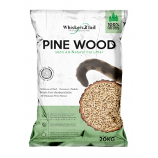 Whiskers2Tail Pine Wood Cat Litter 20kg