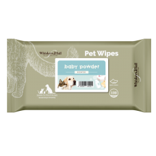 Whiskers2Tail Pet Wipes 100'S Baby Powder (3 Packs)