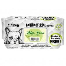 Absorb Plus Pet Wipes Antibacterial 80's Aloe Vera (2 pack )