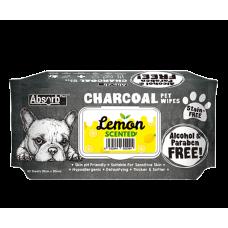 Absorb Plus Pet Wipes Charcoal 80's Lemon ( 2pack )