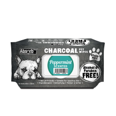 Absorb Plus Pet Wipes Charcoal 80's Peppermint
