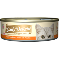 Daily Delight Pure Skipjack Tuna White & Chicken with Pumpkin 80g (24 Cans)