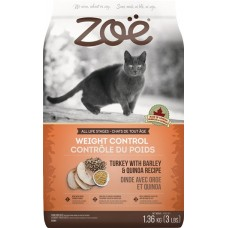 Zoe Cat Weight Control Turkey with Barley & Quinoa 1.36kg