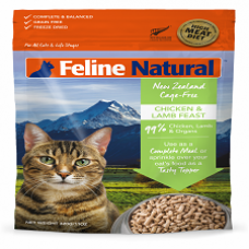 Feline Natural Raw Freeze Dried Chicken & Lamb Feast 100g