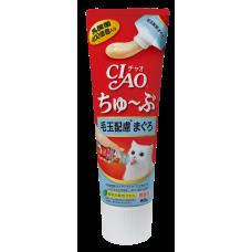 Ciao Chu ru Tube Tuna with Fiber 80g (3 Pcs)