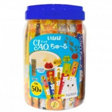 Ciao Chu Ru Seafood With Added Vitamin And Green Tea Extract 14g X 50pcs (3 Tubs)