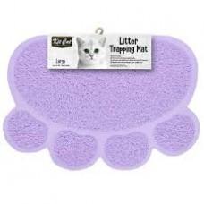 Kit Cat Litter Trapping Mat (L) Purple