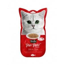 Kit Cat Purr Puree Plus Skin & Coat Tuna & Fish Oil 15g x 4's