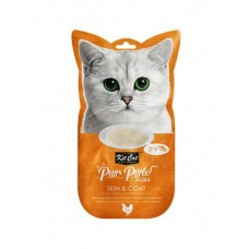 Kit Cat Purr Puree Plus Skin & Coat Chicken & Fish Oil 15g x 4's