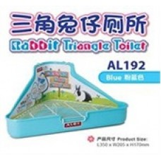 Alex Rabbit Triangle Toilet Blue AL192