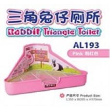 Alex Rabbit Triangle Toilet Pink AL193