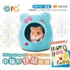 OIC Kitty-shaped Ceramic House (Blue) - M OC10